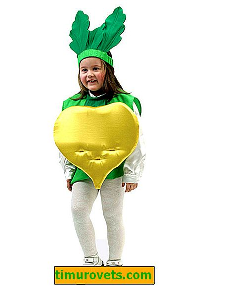 DIY turnip costume for a girl and a boy do it yourself