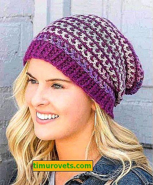 Плетене на една кука шапка за жени