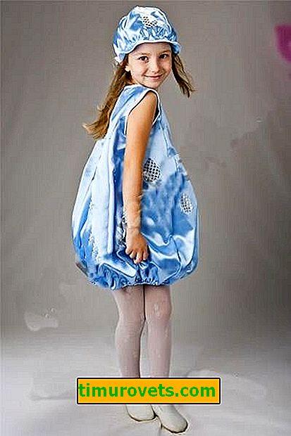 DIY odijelo za kapljice za djevojčicu