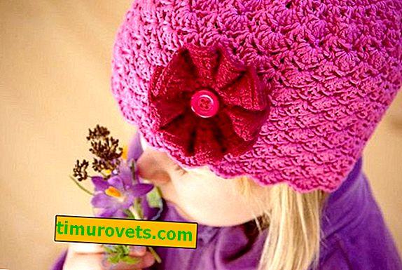 Crochet šešir za djevojčice