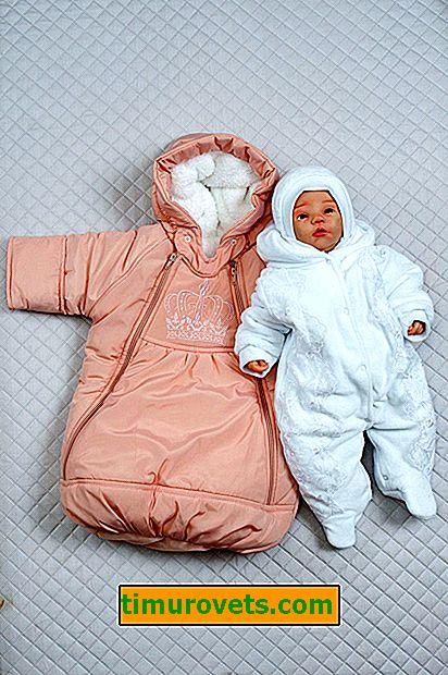 Cosa c'è di meglio per scaricare un neonato in inverno: una busta o una tuta