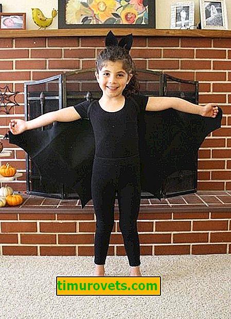 Disfraz de murciélago hágalo usted mismo para niña