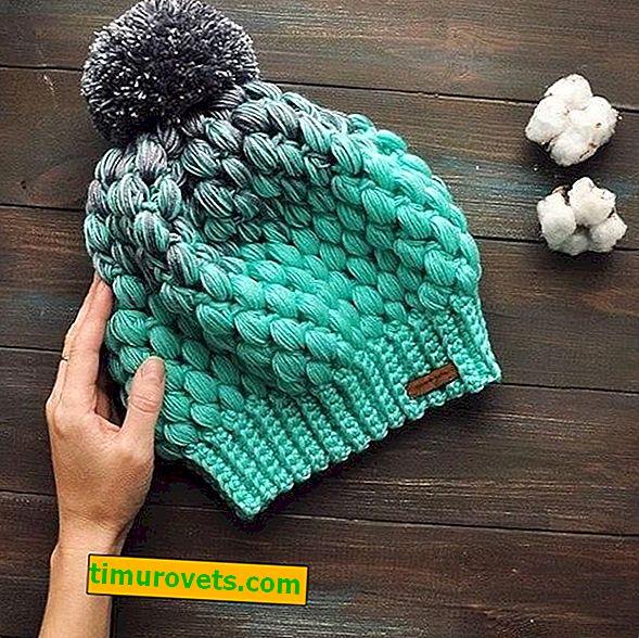 Motif en crochet pour chapeaux