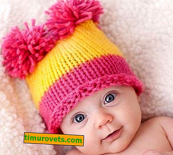 Sådan strikkes en hætte til en nyfødt (ordning)
