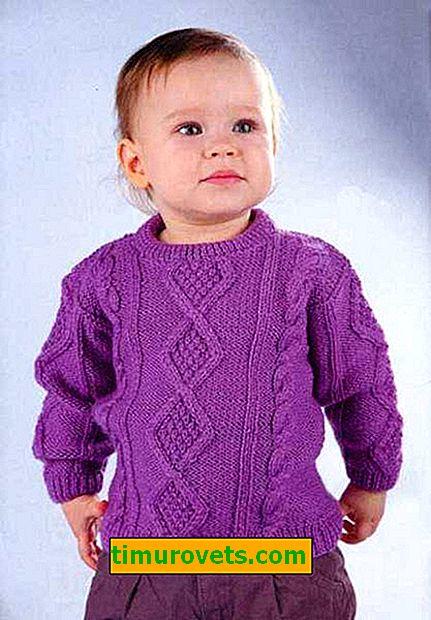 Wir stricken einen Pullover für ein Mädchen mit Stricknadeln und Häkeln