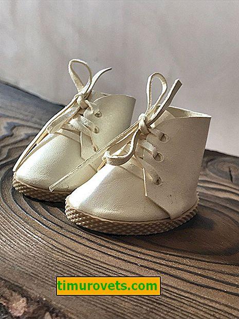 Обувки за куклата (с шарка)