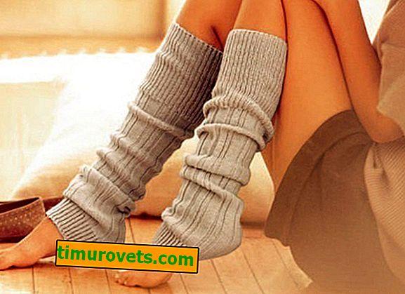 Calcetines de bricolaje de un viejo suéter