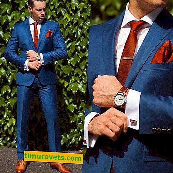 Chemise sous un costume bleu