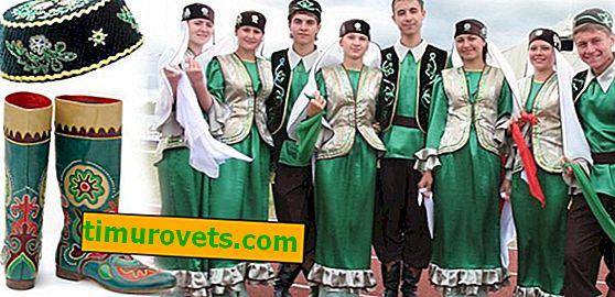 Foto de traje nacional tártaros