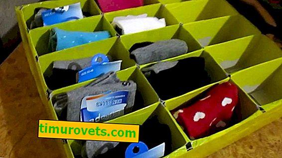 Organizador de meias DIY