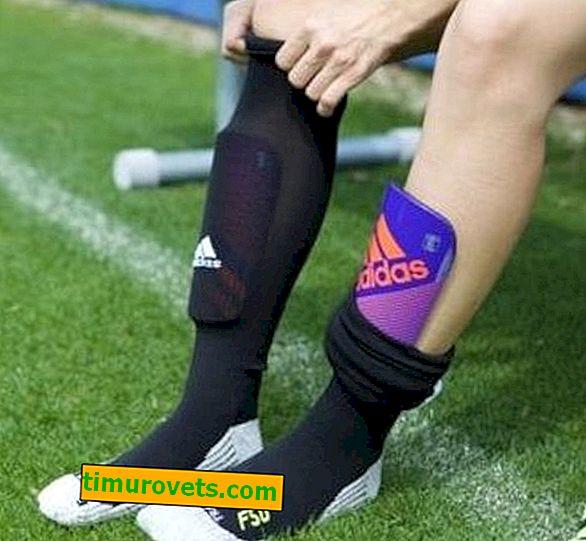 Wie man Fußballgamaschen trägt