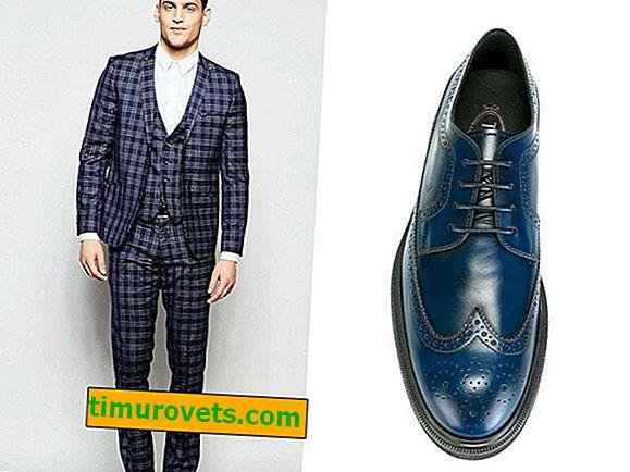 Kako nositi modre moške čevlje