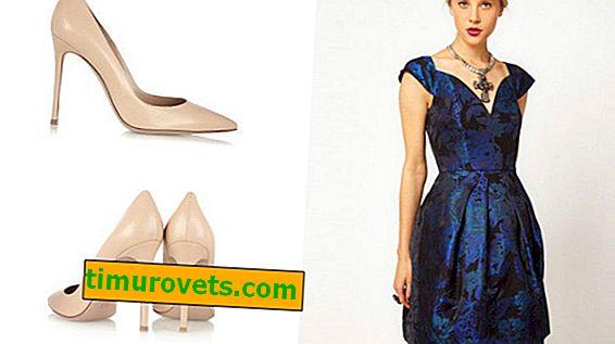 Quelles chaussures vont avec une robe bleue