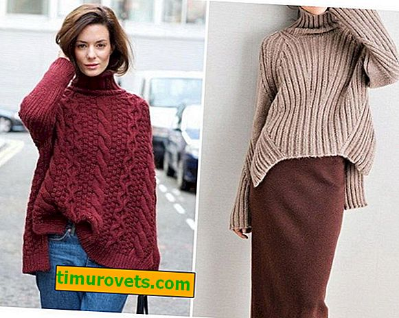 Плетен пуловер с големи размери