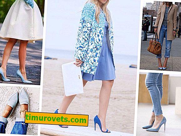 Как да носите сини обувки