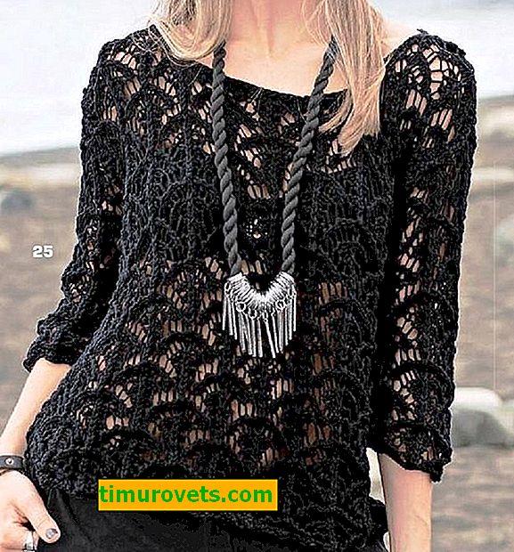 Как да плета ажурен пуловер с игли за плетене