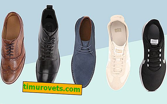 Tipos de zapatos de hombre.
