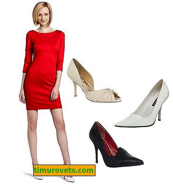 Hvilke sko passer til et rødt kjolefoto