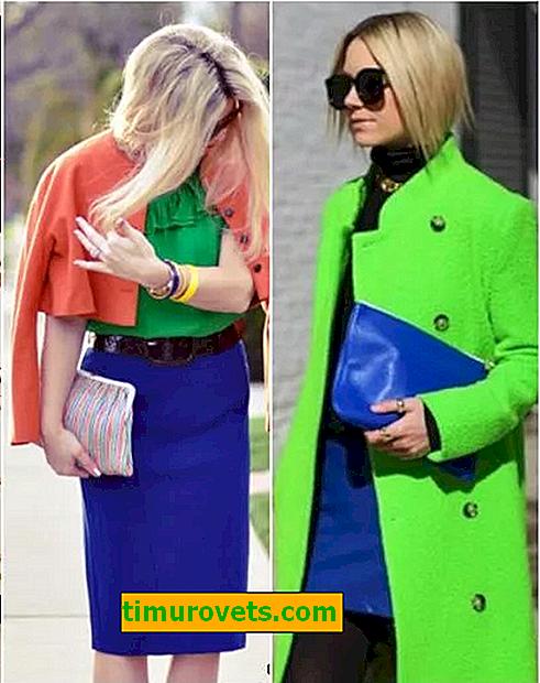 Kombinasjonen av blå og grønn i klær