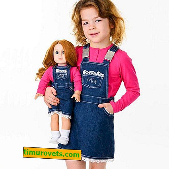 Motif d'une robe d'été en jean pour la fille