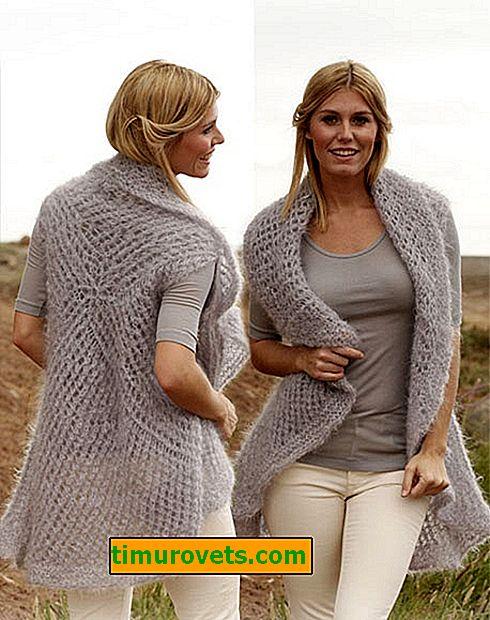 Как да плета жилетка с игли за плетене за жени (нови модели)