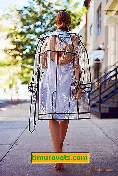 Ako šiť dažďovú pokrývku vyrobenú z polyetylénu vlastnými rukami