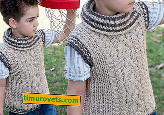 Плетива жилетка за момчето