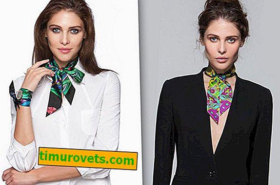 Wie man einen quadratischen Schal um den Hals bindet