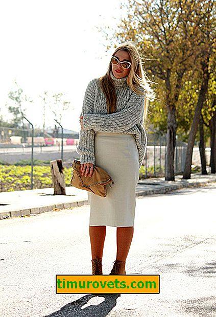 Как да носите голям размер пуловер
