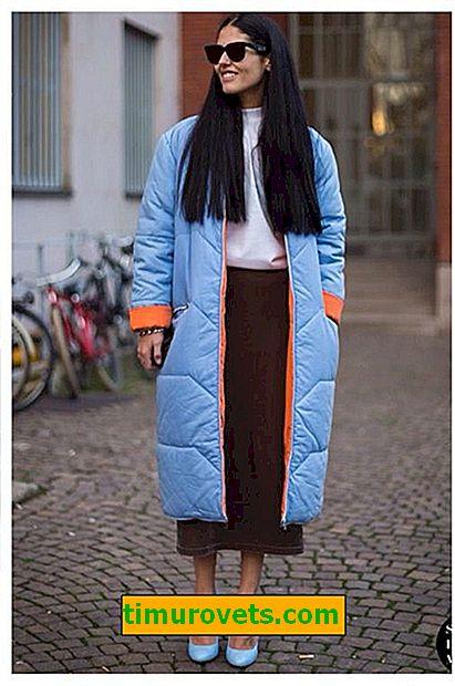 Cómo usar una falda larga con una chaqueta de plumas en invierno