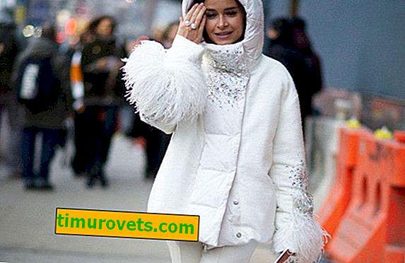 Beyaz aşağı bir ceket ile ne giymeli?
