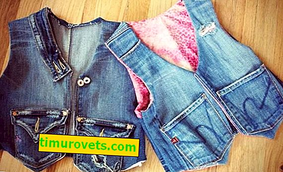 DIY vest from old jeans