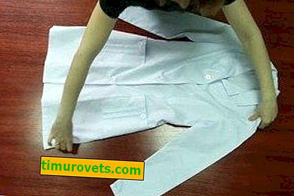 Como dobrar um vestido médico?
