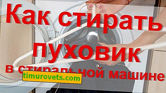 Wie man eine Daunenjacke in einer Waschmaschine wäscht