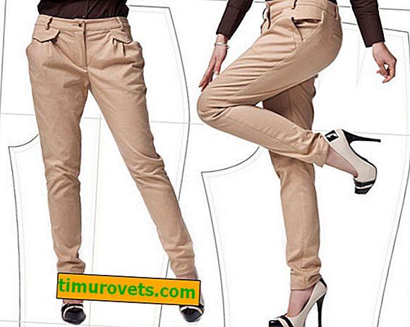 Модел на тесни дамски панталон