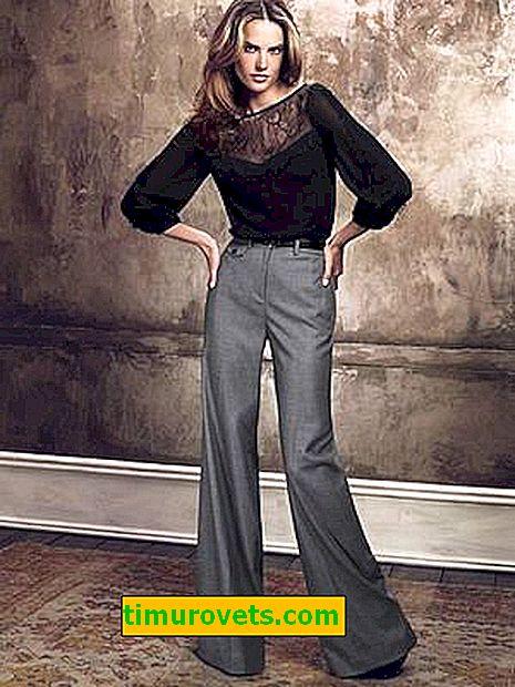 Co nosit s marlenovými kalhotami