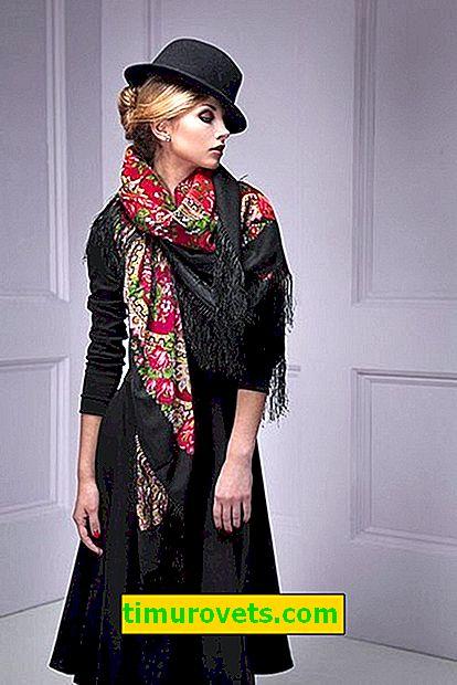 Wie trägt man einen Pavloposad-Schal?