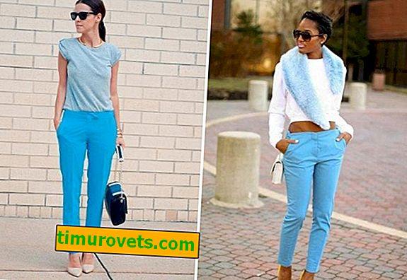 Was trägt man zu einer blauen Hose?