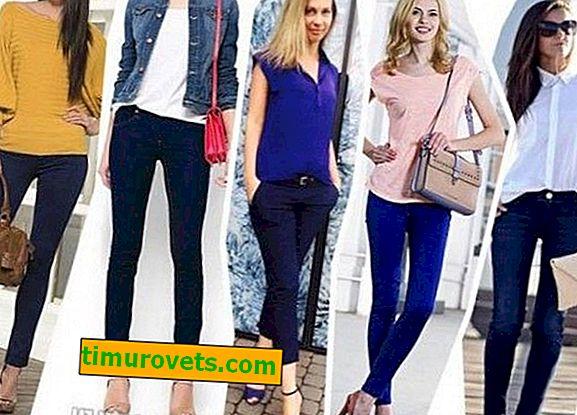 Was trägt man zu einer blauen Damenhose?