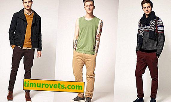 Kako nositi rjave moške hlače?