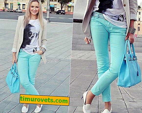 Kako nositi tirkizne hlače