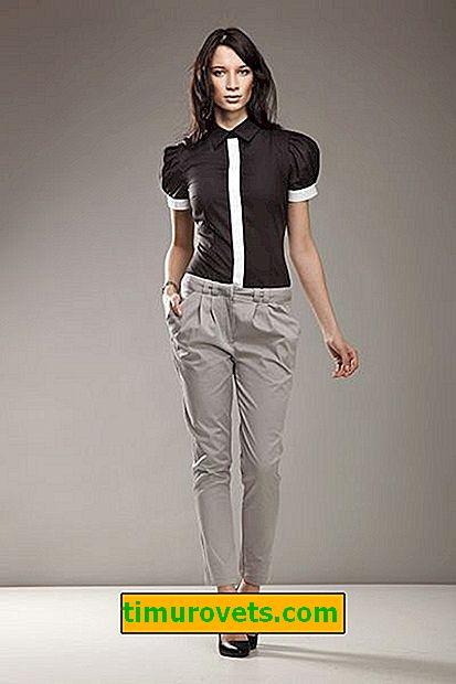 Как да носите сиви дамски панталони
