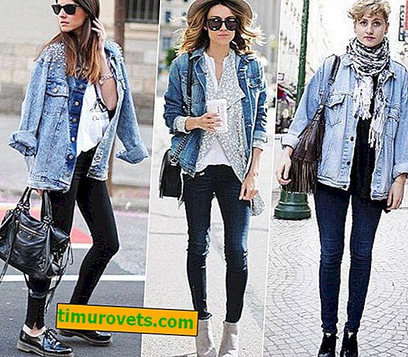 Co nosit s dlouhou džínovou bundu?