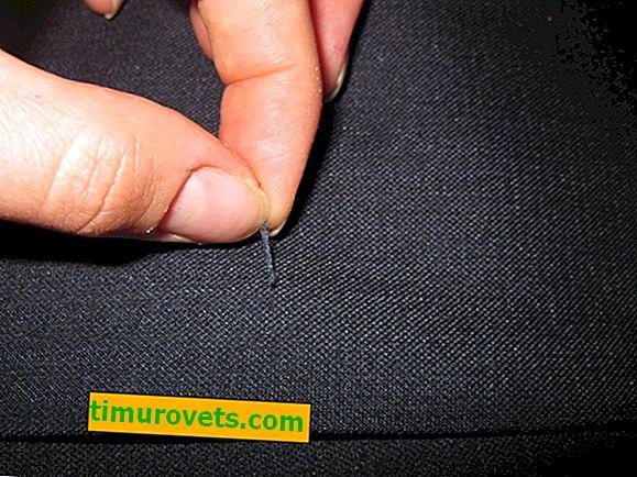 Kako odstraniti obkladke na hlačah