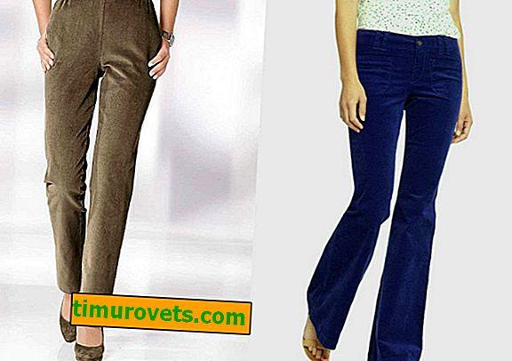 Kako nositi ženske in moške valovite hlače?