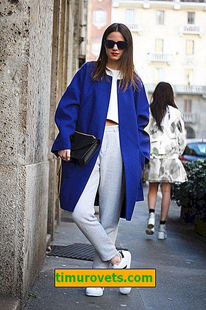 Cómo usar un abrigo azul