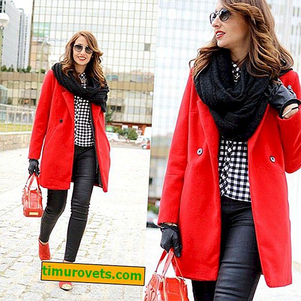 Как да носите червено палто