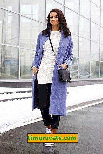 Как да носите лилаво палто