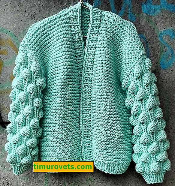 Nous tricotons un bombardier à la framboise avec des aiguilles à tricoter étape par étape