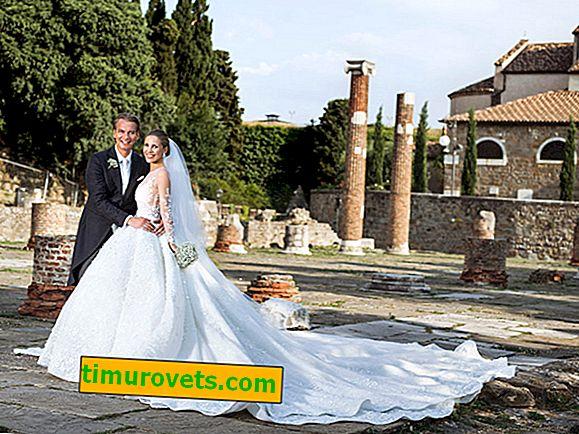 Nejkrásnější svatební šaty hvězd